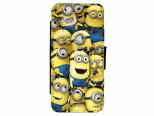MINIONS Leather Flip Phone Case Cover for iPhone & Samsung D18