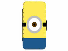 MINIONS eye Leather Flip Phone Case Cover for iPhone & Samsung D5