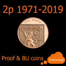 *UK PROOF & BU 2p Two Pence Coins 1971-2018 Coin Hunt - select year*