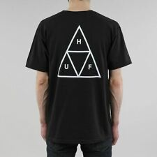 HUF Men's New Triple Triangle Short Sleeve Regular Fit Cotton T-shirt Black