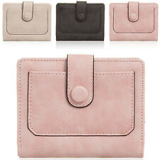 Small Women Bi-fold Wallet Ladies Girls Faux Leather Purse