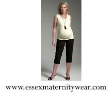 Cropped Maternity Smart Trousers Size 8 & 12 Black or Brown