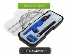 Helix Compact Maths Geometry Set, Compass Ruler Protractor Squares Sharpener(UK)