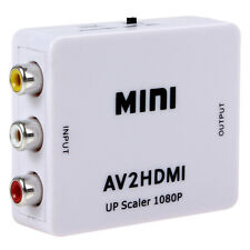 HDTV mini composite 1080p HDMI a RCA audio video AV Adaptador convertidor New RU