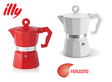 Machine Coffee Express 3 Cups Coffee Maker White or Red Mocha Illy