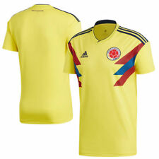 adidas Colombia National Team Youth Yellow 2018 Home Replica Blank Jersey
