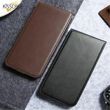 Phone Cover Black Leather Mobile Flip Case For Samsung Galaxy S8 Plus S7 S6 Edge