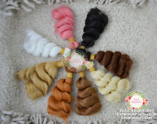Synthetic Doll Hair Curly Weft 1/4 1/6 OOAK Monster High BJD diy wig 15cm Reroot