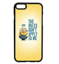 MINIONS Bob The Rules Dont Apply To Me Rubber Hard Case D8 for iPhone & Samsung
