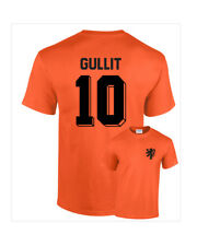 Ruud Gullit Holland Netherlands No 10 Mens Retro Football T-Shirt