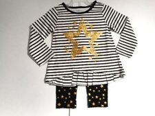 Toddler girls outfits Girls clothes Pants Tops Shirts Gold Star outfit 2pc 2T-4T