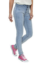Vero Moda Damen Jeans Wonder New NW Skinny Jegging Light Blue Denim SALE %