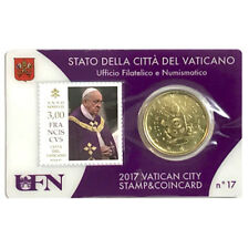 50 Eurocents Vatican Stamp & Coin Card 2017 Papa Francesco Pope Francis