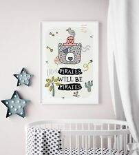 Boys Pirate Prints / Pirate Pictures For Boys Bedroom, Playroom Boys, Kids Room