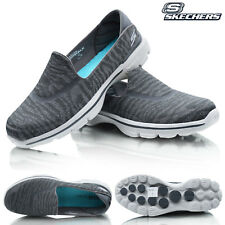 Womens SKECHERS Slip On Comfort Cushioned Walking Go Walk Trainers Shoes Size