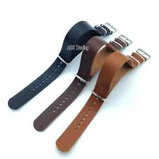 Leather Watch Strap Band Army Military Divers NATO G10 Mens 18mm 20mm 22mm 24mm