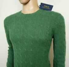 Ralph Lauren Mens Jumper Pure Cashmere Cable Knit Crew Sweater L , M New RRP£370