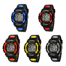 Popular Kids Child Boy Girl Waterproof Band LED Digital Sport Quartz Wrist Watch