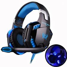 Pro Computer Gaming Players  3.5mm  Stereo Headphones 50mm Speaker w/ LED Effect