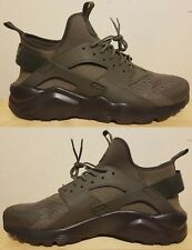 NIKE AIR HUARACHE RUN ULTRA CASUAL MEN's MESH MEDIUM OLIVE - CARGO KHAKI - BLACK