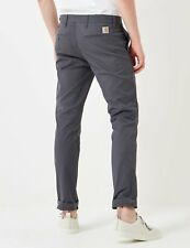 Carhartt WIP Sid Pant Chino (Slim) in Blacksmith Grey Pantalone in cotone Grigio