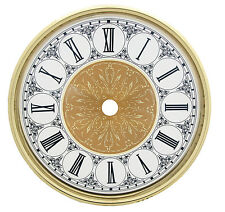 NEW Complete Clock Dial with Bezel & Glass Set - Arabic or Roman Numbers