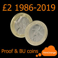 *UK PROOF & BU £2 Two Pounds Coins 1986-2018 Coin Hunt - select year*