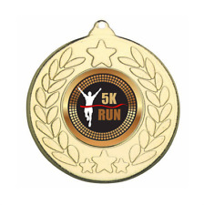 Running Medal 60 mm with ribbon Engraving up to 30 Letters with case option