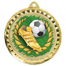 Football Medal 60 mm with ribbon Engraving up to 30 Letters with case option