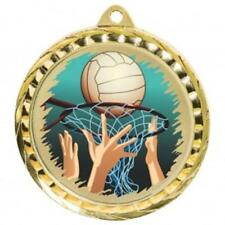 Netball Medal 60 mm with ribbon Engraving up to 30 Letters with case option