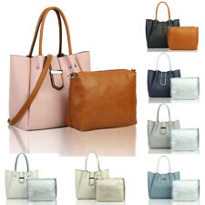 New Women's Leather Tote Hobo Shopper Crossbody Shoulder Handbag + Messenger Bag