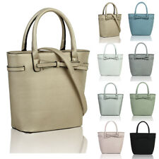 Women's Faux Leather Fashion Tote Hobo Shopper Handbag Crossbody Shoulder Bag