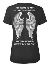 Son Guardian Angel - My Is Angle He Watches Over T-shirt Élégant pour Femme