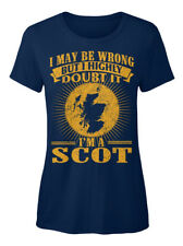 Im A Scot 07 - I May Be Wrong But Highly Doubt It I'm T-shirt Élégant pour Femme