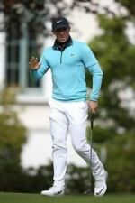 NIKE DRY KNIT Rory Mcilroy Style MEN'S HALF-ZIP LONG-SLEEVE GOLF TOP Size M