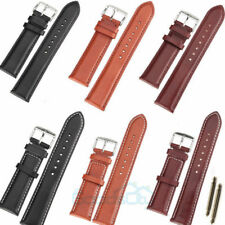 18-24mm Genuine Leather Watch Strap Band TWISTER Mens Stainless Steel Buckle UK