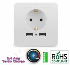 5V/2A 2 USB Electric Wall Charger Adapter EU Plug Outlet Socket Charging Panel