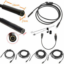 2/5/7/10/15m 6LED USB Waterproof Endoscope Borescope Snake Inspection Camera W@