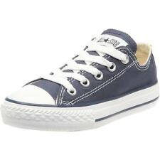 Converse Chuck Taylor All Star Ox Dark Navy Textile Junior Trainers
