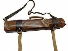 Chief Knife Roll Leather Lightweight(KB005) Chef Knife Bag Genuine  Leather