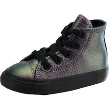 Converse Chuck Taylor All Star Hi Viola In Pelle Bambino Trainers