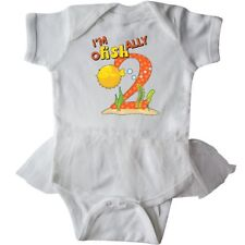 Inktastic I'm O-Fish-Ally Two- Cute Puffer Fish Second Infant Tutu Bodysuit 2nd