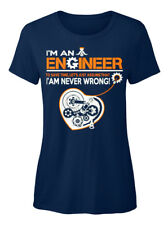Engineer-s Mens- Never Wrong T-shirt Élégant pour Femme