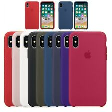 ultra fino Genuina Original funda de silicona para iPhone X 8 7 6s 6 Plus Boxed