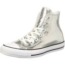 Converse Chuck Taylor All Star Metallic Scaled Hi Argento In Pelle Adulto