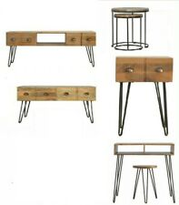 ARTISAN Range : Solid Wood & Iron : Coffee Table : Wash Stand : Table : Nest