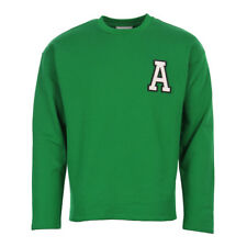 NEUF pour hommes AMI Pull - vert col rond manches longues