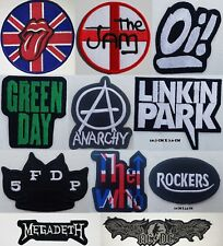 Rock Pop Heavy Metal Punk Music Band Embroidered Iron on Sew On Patch Badge