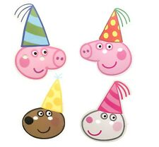 Peppa Pig  Set (8) pack Fun CARD Party Masks includes Peppa Pig & Friends