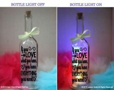 Star Bottle LED Light Up If you Love what you have, you have everything you need